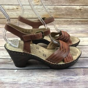 Naturalizer MARTHA Brown Woven Leather Sandals